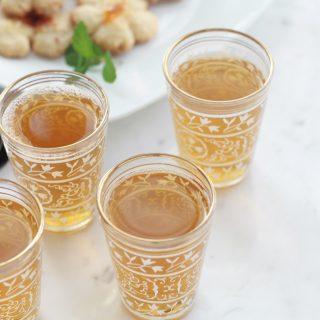 Thé vert à la menthe traditionnel