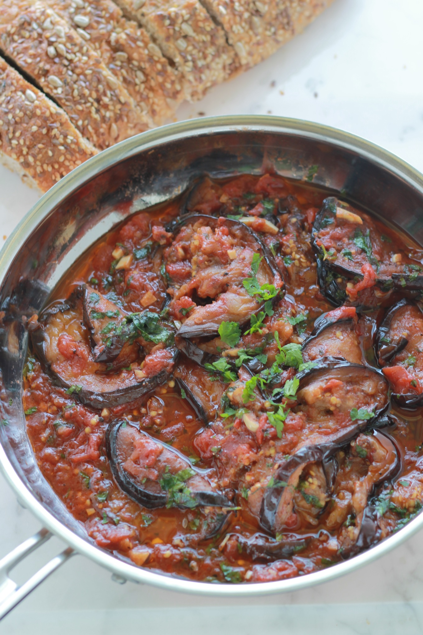 Aubergines sauce tomate cuisine culinaire for Sauce tomate cuisinee