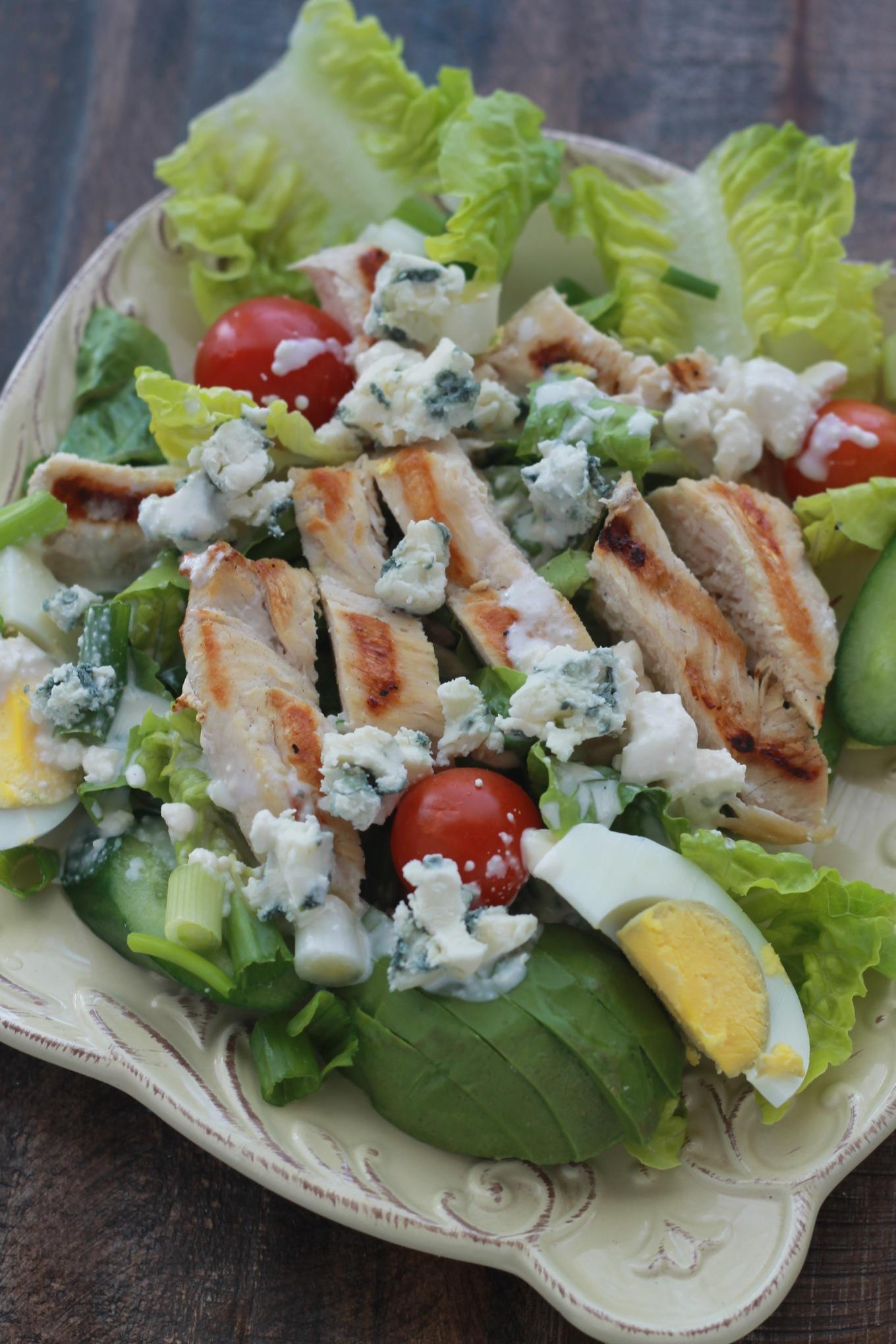 Salade poulet sauce fromage bleu