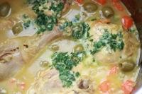 Tajine de poulet aux olives - sauce