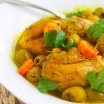Tajine de poulet aux olives algérien