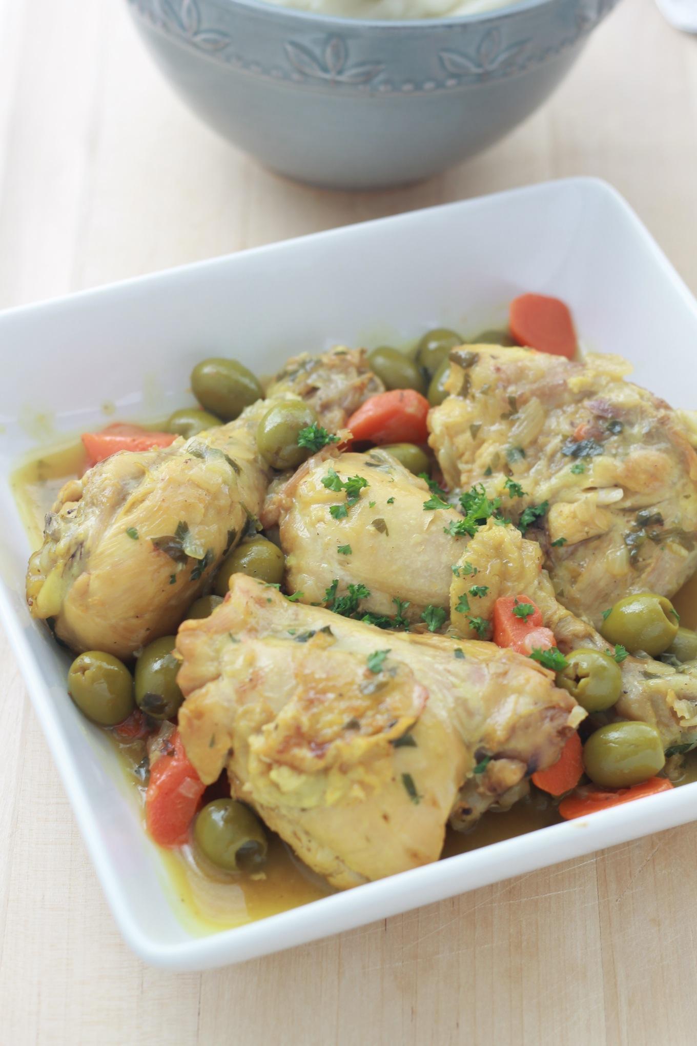 Tajine de poulet aux olives algerie