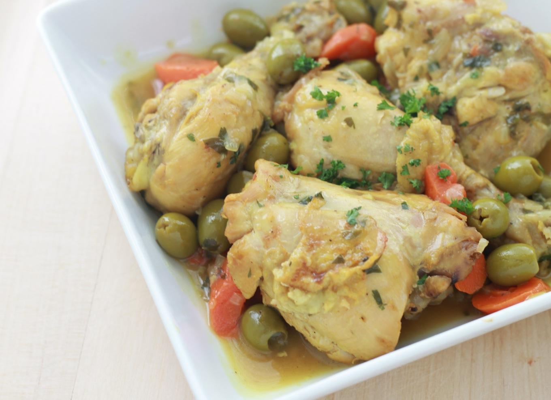 Tajine de poulet aux olives algerien