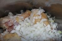 Tajine de poulet aux olives - poulet oignons