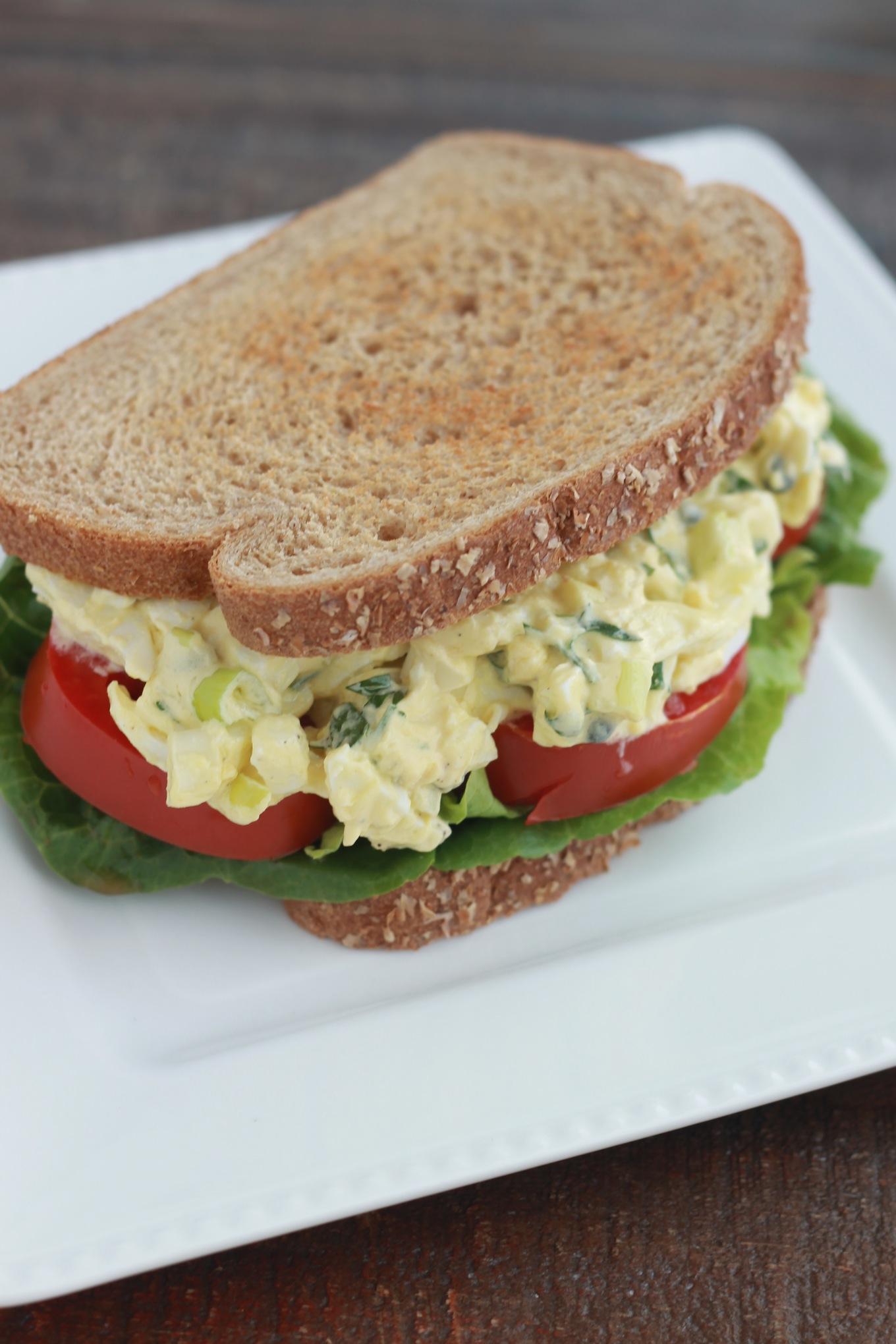 sandwichs salade oeufs durs