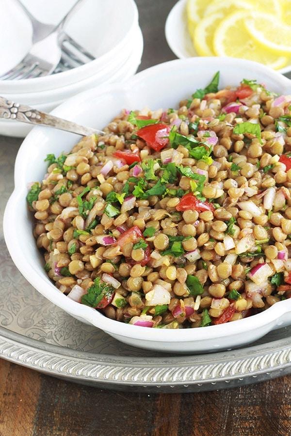 Salade De Lentilles Marocaine Recette Facile Cuisine Culinaire