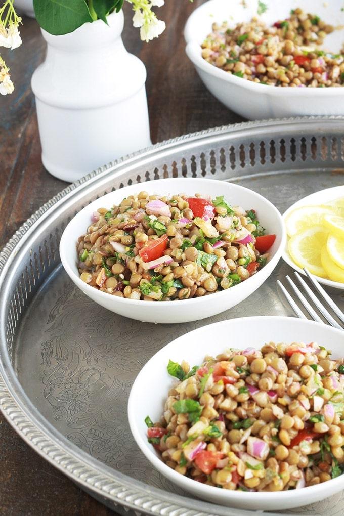 salade de lentilles marocaine recette facile cuisine culinaire. Black Bedroom Furniture Sets. Home Design Ideas