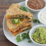 Quesadillas au boeuf hache facile
