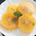Salade d'oranges a l'eau de fleur d'oranger et cannelle