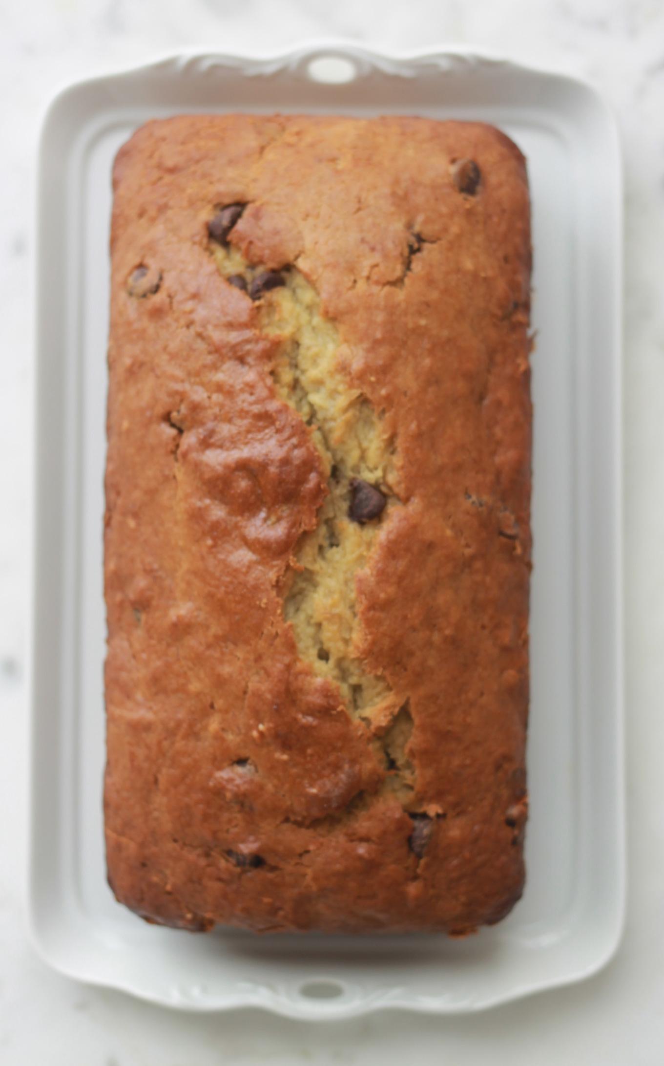 Cake à la banane et chocolat, moelleux