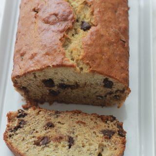 Cake à la banane et chocolat (moelleux)
