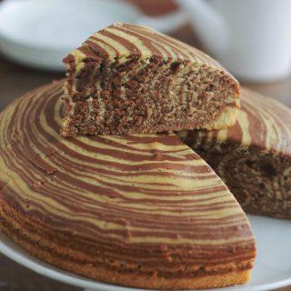 Gâteau zébré au chocolat (gâteau tigré)