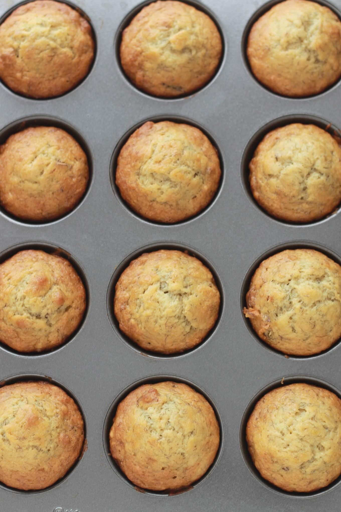 Muffins banane noix