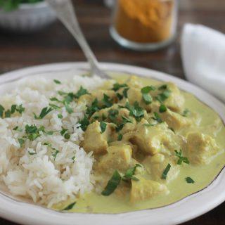 Poulet au curry et lait de coco (facile, rapide)