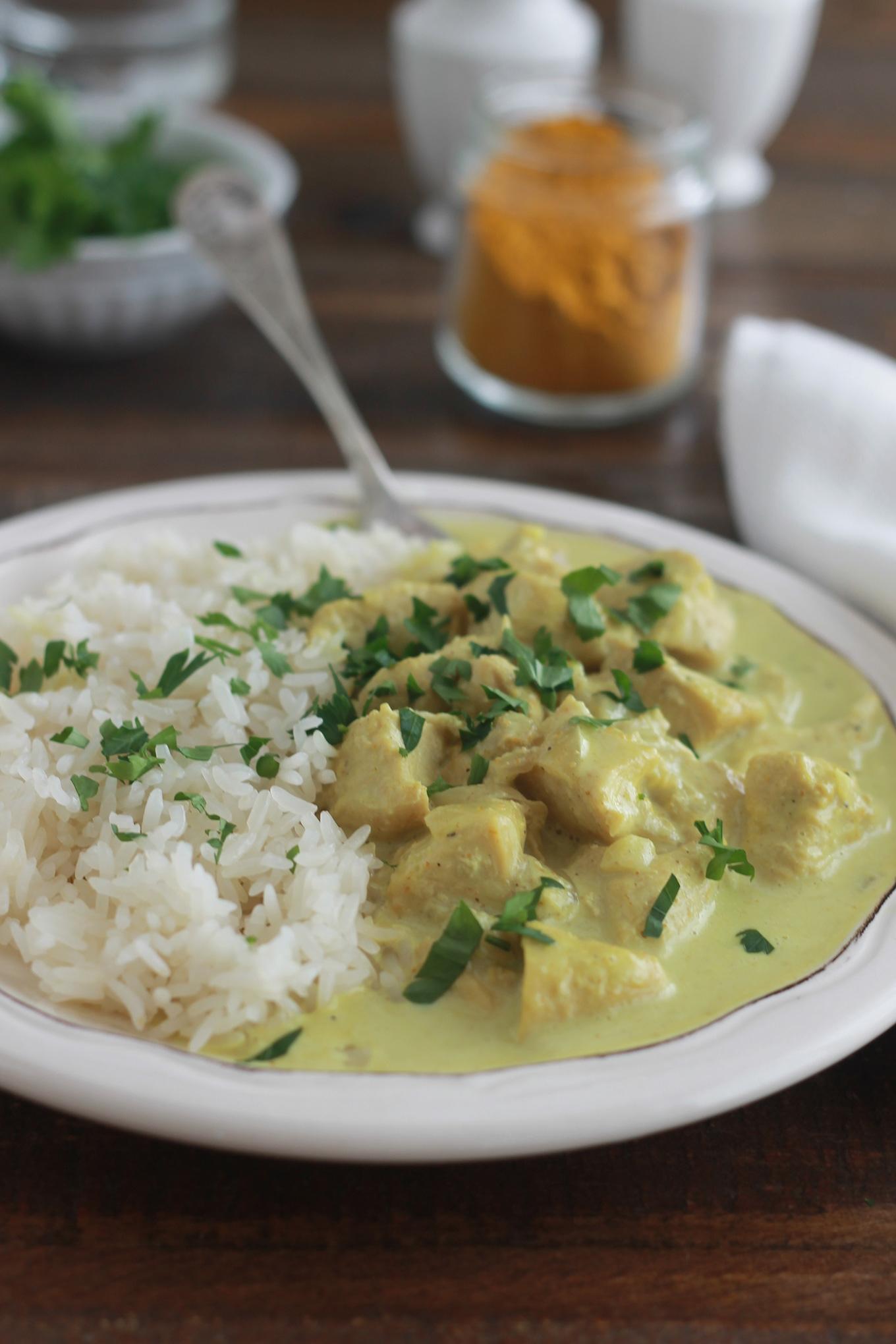 poulet au curry et lait de coco facile rapide cuisine culinaire. Black Bedroom Furniture Sets. Home Design Ideas