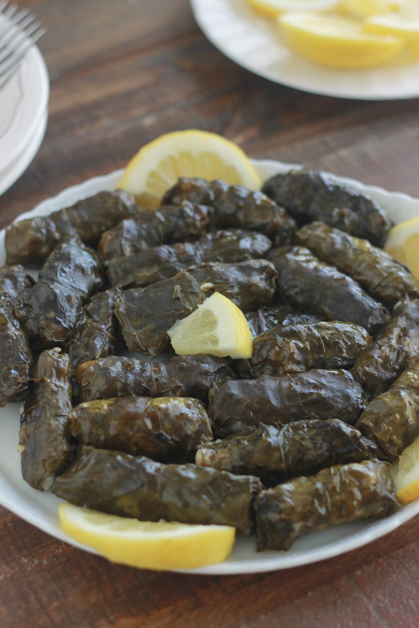 Feuilles de blettes farcies à la viande hachée