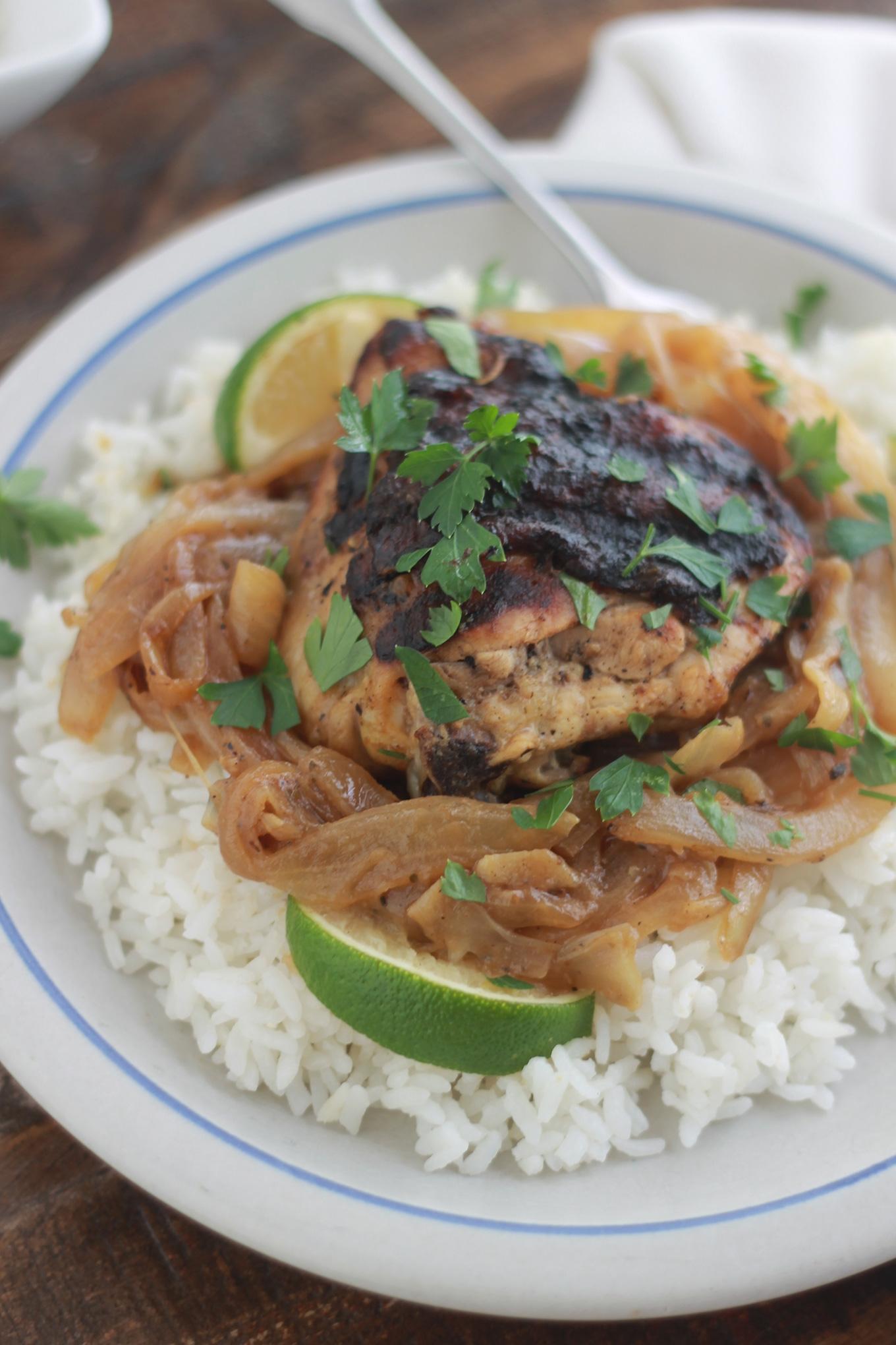 Yassa au poulet recette s n galaise cuisine culinaire - Recette de cuisine senegalaise ...