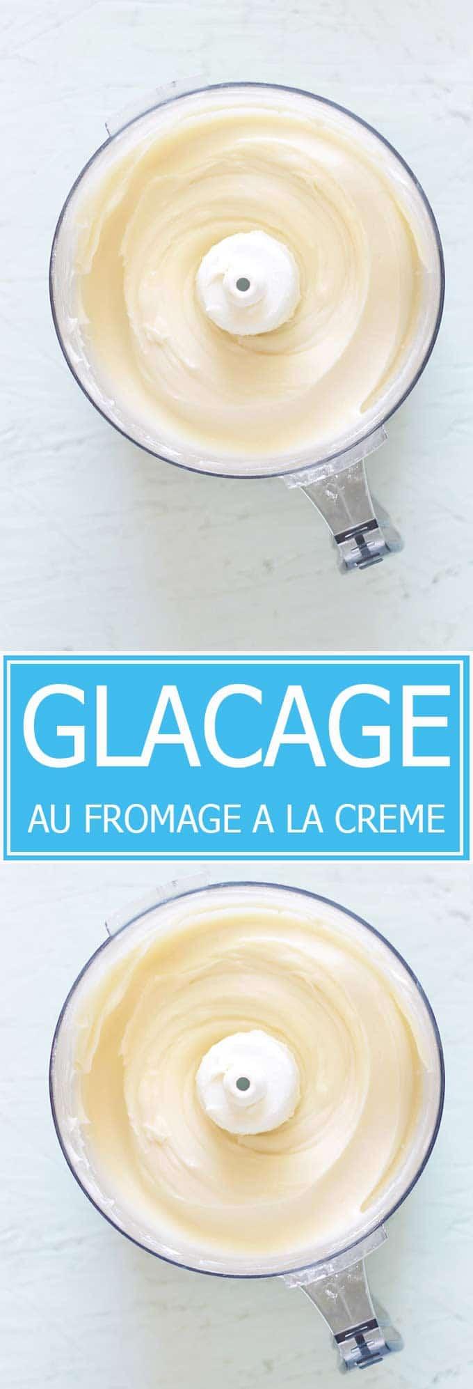 La recette du glaçage au fromage à la crème (cream cheese). Crémeux, simple, rapide et très facile à faire. A utiliser sur les gâteaux et cupcakes.