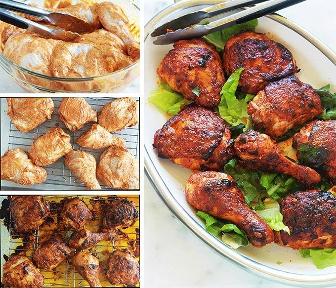 poulet tandoori au four ou po le recette facile cuisine culinaire. Black Bedroom Furniture Sets. Home Design Ideas