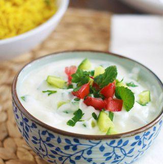 Sauce raita indienne (sauce yaourt)