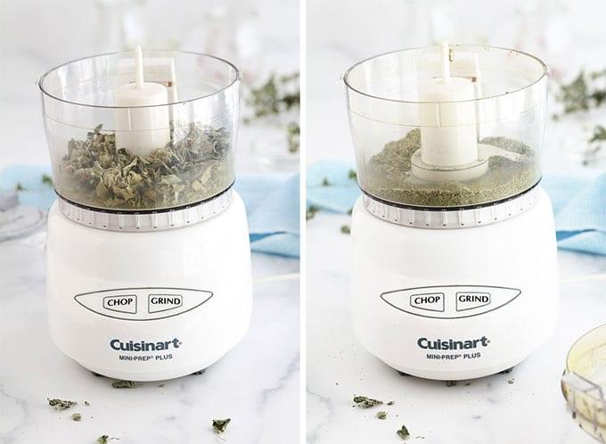 Mixer le thym sauvage seche au mixer - Thym seche en poudre