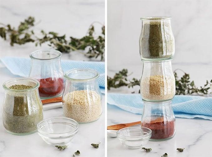 Recette Zaatar maison formule de base proportions des ingredients