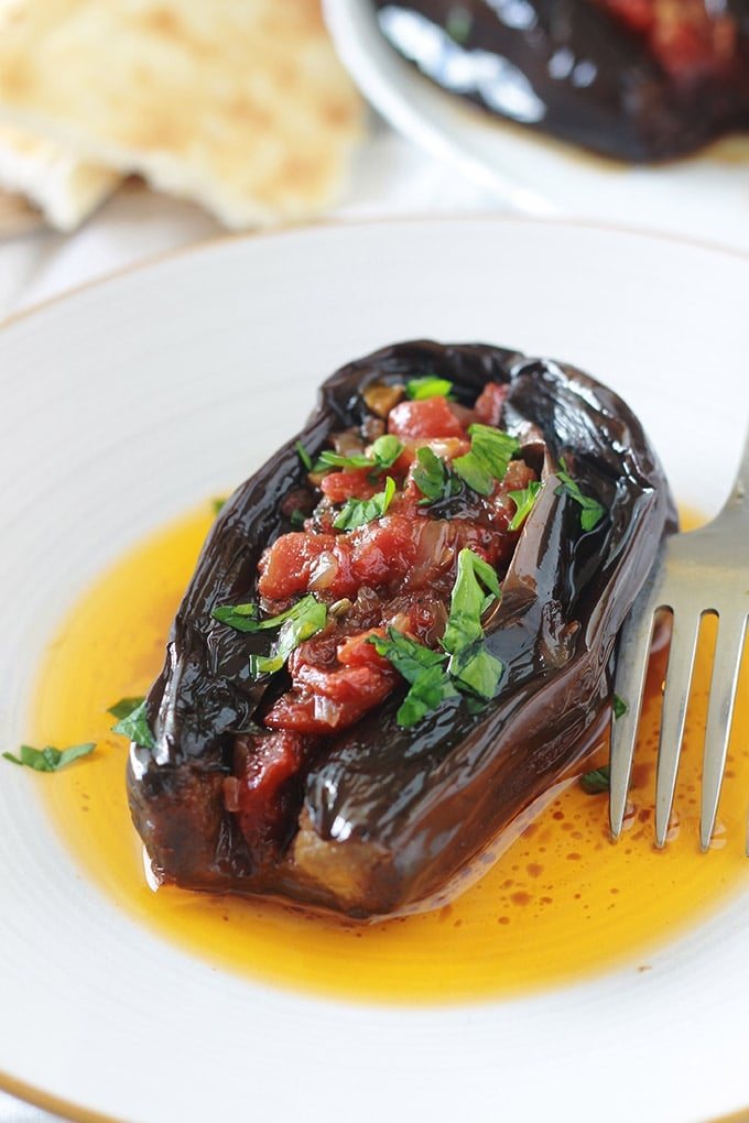 aubergines farcies v g tariennes recette imam bayildi cuisine culinaire. Black Bedroom Furniture Sets. Home Design Ideas