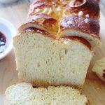 Recette de la brioche au beurre facile, moelleuse. Brioche classique comme celle du boulanger. Au pétrin ou à la main.