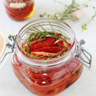 Tomates confites séchées au four