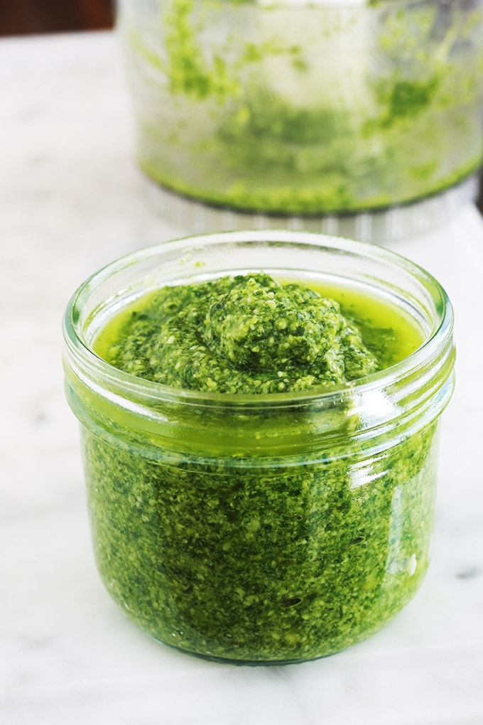 La recette du pistou provençal ou pistou de basilic maison. Une sauce froide utilisée principalement dans la fameuse soupe au pistou. Basilic, ail, huile d'olive, et éventuellement du parmesan râpé. Délicieux sur des toasts à l'apéro, comme sauce pour les pâtes, les salades, les viandes grillées, les légumes grillés, ou pour parfumer d'autres soupes.
