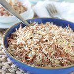 Riz libanais aux vermicelles, facile et rapide à faire. Excellent pour accompagner chawarma, chich taouk, ragoûts de viandes, brochettes et grillades, ...