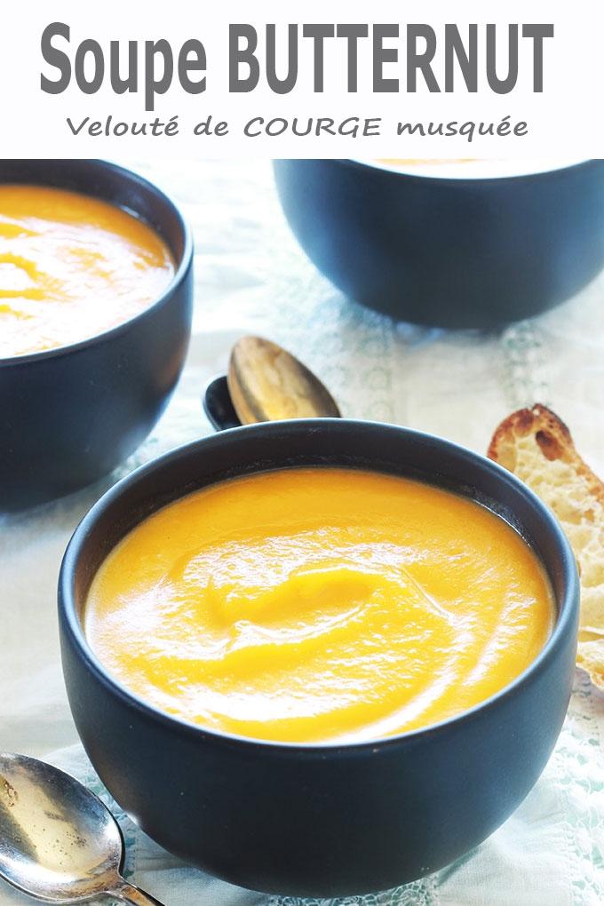 Soupe butternut (velouté de courge musquée)