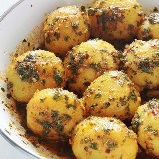 Pommes de terre à la chermoula (batata mchermla)