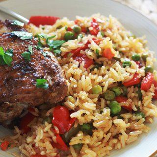 Riz au poulet et légumes (au four ou pas)