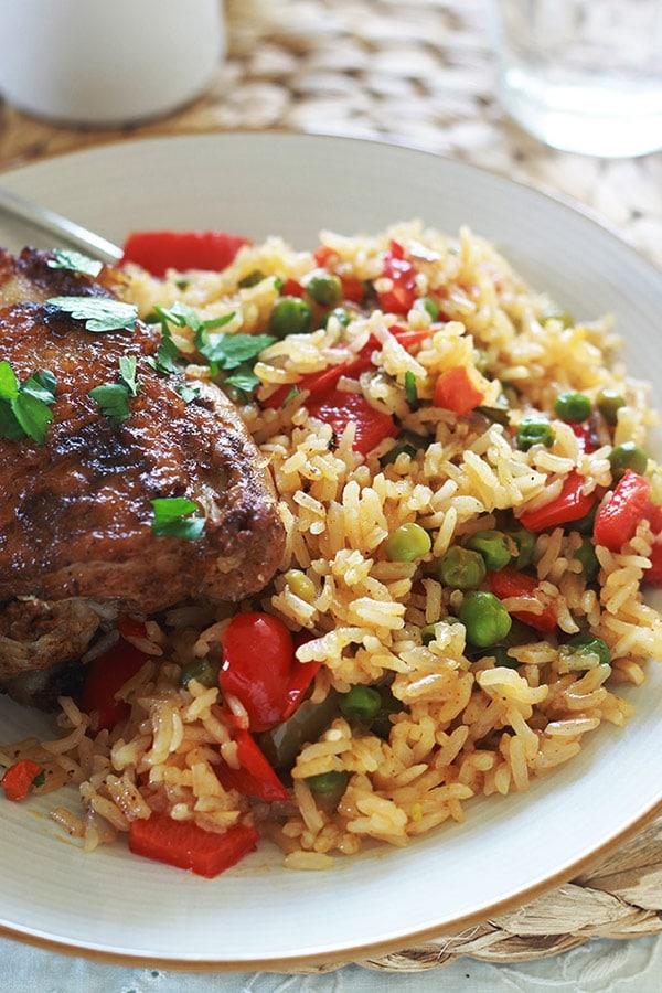 Riz au poulet et l gumes la cocotte ou au four cuisine culinaire - Comment dessaler un plat cuisine ...