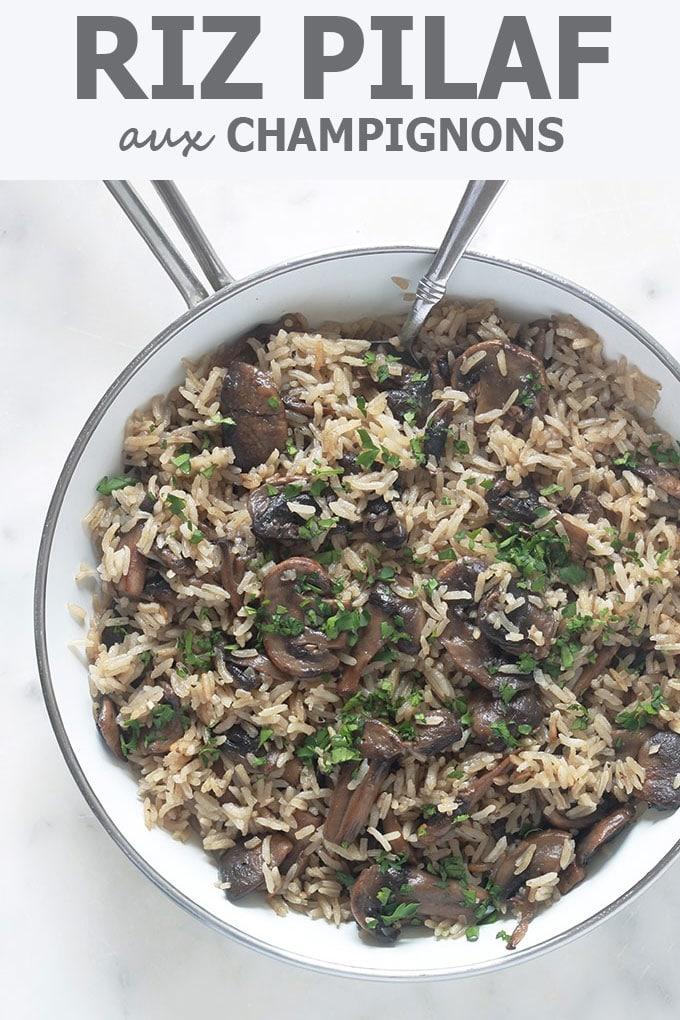 Riz aux champignons, recette facile et rapide