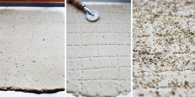 Délicieux sablés salés au parmesan (ou crackers au parmesan) : avec des graines mélangées et des herbes aromatiques / épices. Très facile. Ces crackers sont meilleurs que ceux du commerce. Parfaits pour l'apéritif, à déguster tels quels ou sous forme de canapés avec du fromage, une rillette, saumon fumé, thon, ...