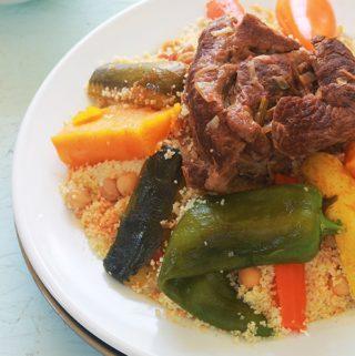Couscous marocain aux légumes et viande