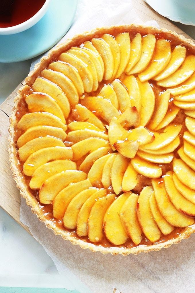 Tarte aux pommes avec compote recette facile rapide for La cuisine facile