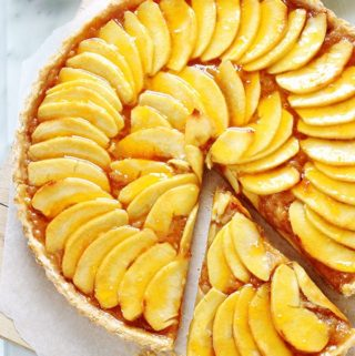 Tarte aux pommes avec compote de pommes maison recette facile rapide pate brisee