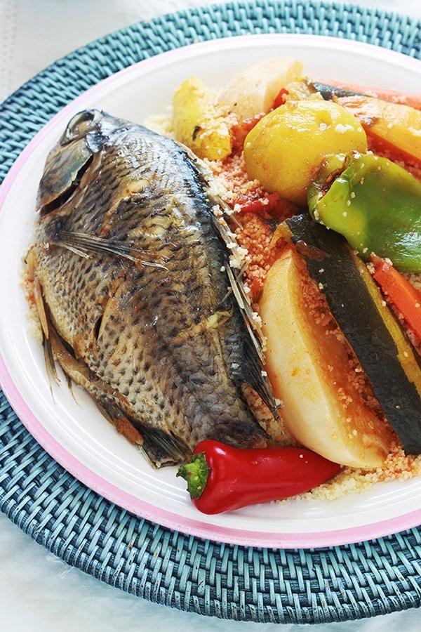 Couscous tunisien au poisson et l gumes cuisine culinaire - Recette de cuisine avec du poisson ...