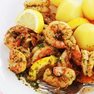 Crevettes en sauce chermoula, recette facile et rapide