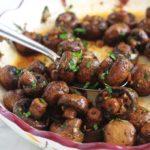 champignons rotis au vinaigre balsamique