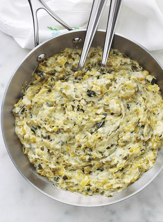 Fondue De Poireaux A La Creme Recette Facile Cuisine Culinaire