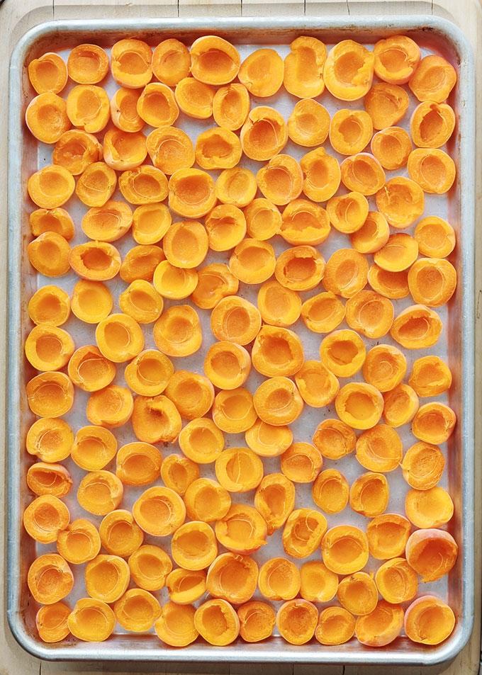 Congeler les abricots frais, sans machine et sans aspirateur, est très facile. Astuces simples et efficaces pour profiter de vos abricots toute l'année. A utiliser pour faire des compotes et coulis, sorbets, milk-shakes, glaces, yaourts, clafoutis, tartes et bien d'autres recettes!