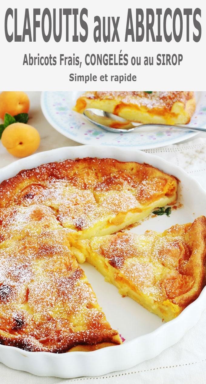 Clafoutis aux abricots, recette facile