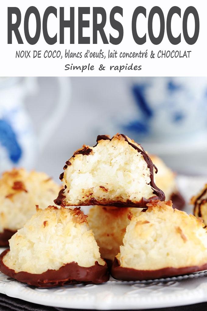 Rochers coco au lait concentré et chocolat