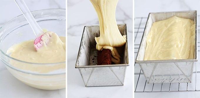 Gateau au yaourt surprise paques lapin Etape Pate blanche