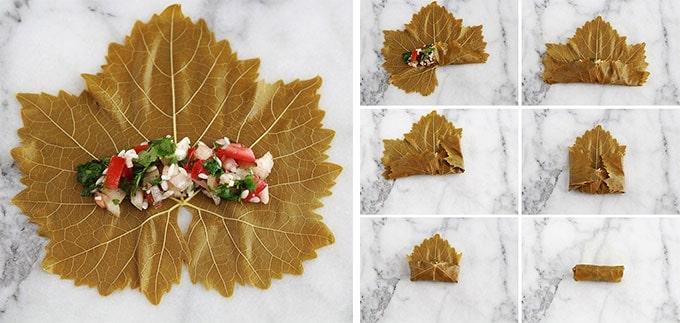 Comment farcir et rouler les feuilles de vigne