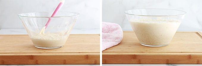 Petits pains sans petrissage pate levee double ou triple de volume